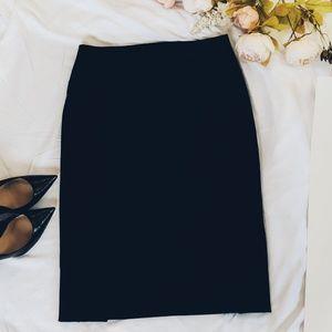 Express Black High Waist Midi Pencil Skirt, Sz 10